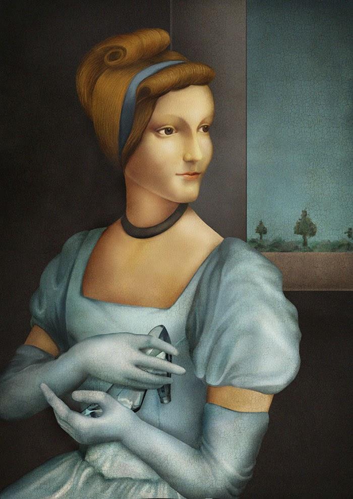 Les disney princesses dans la peinture de la renaissance - Peinture princesse disney ...