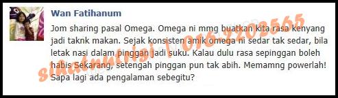 Bakar Lemak dengan Omega Shaklee
