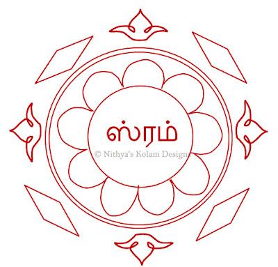 Navagraha Kolam | Shani Bhagavan | Saturday