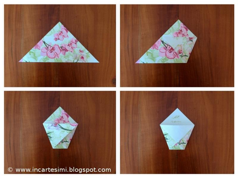 Incartesimi bustine origami portaconfetti portariso o for Sacchetti di carta fai da te