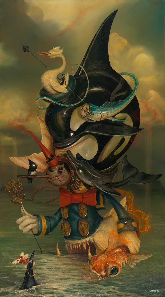 13-Beyond-the-Sea-Greg-Craola-Simkins-Fantastical-Surreal-Paintings-Full-of-Details