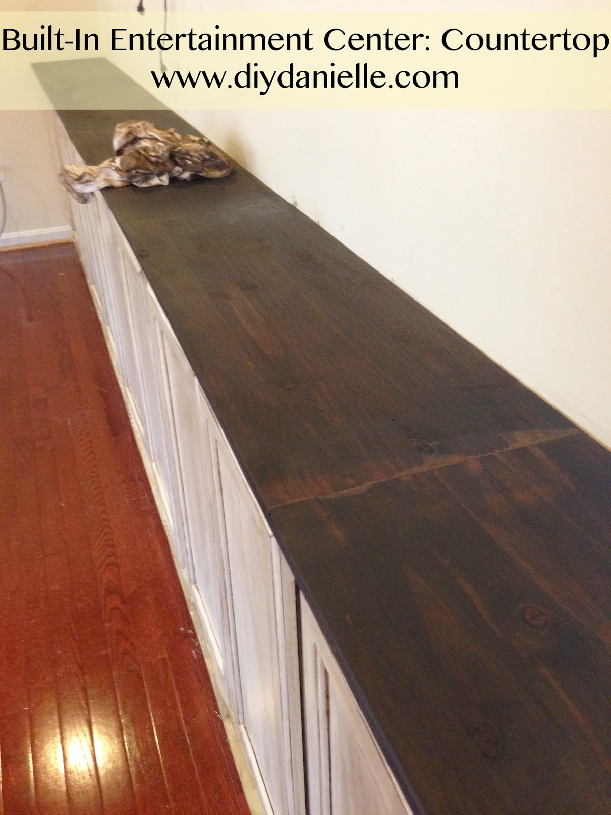 Staining a wood countertop