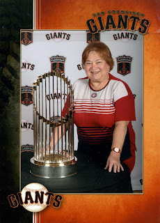 Lindi with the SF Giants 2010 World Series Championship trophy