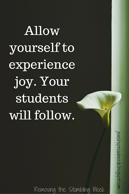 Allow yourself to experience joy via Removing the Stumbling Block