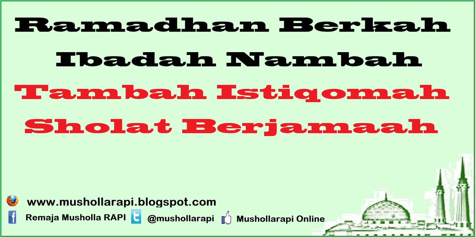 Ramadhan 1438 H Musholla RAPI Online