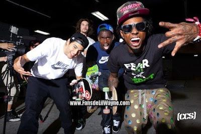 fotos de lil wayne y su equipo de skate para la revista CCS