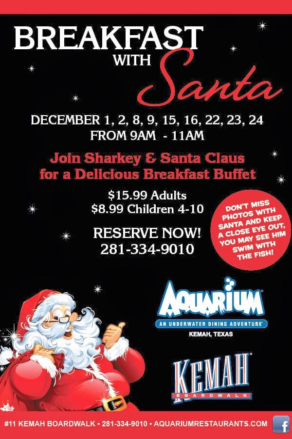Breakfast With Santa Aquarium Houston
