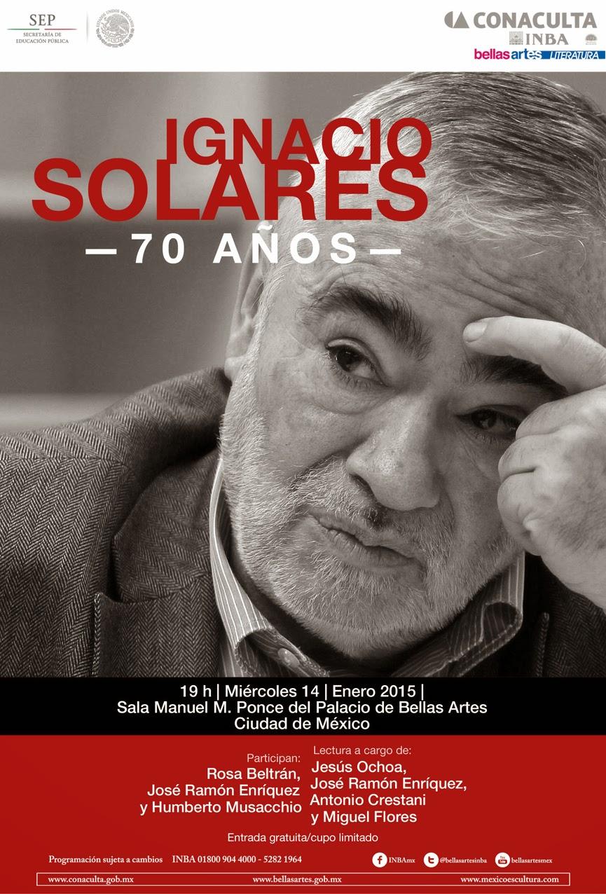 Homenaje por los 70 años de Ignacio Solares en el Palacio de Bellas Artes