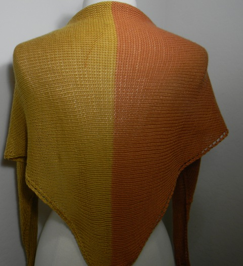 Louise Knits Very Easy Shawl Knitted Sideways