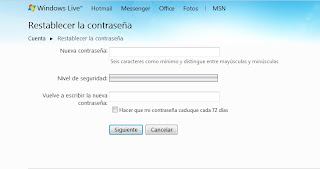 Hotmail Password Recover