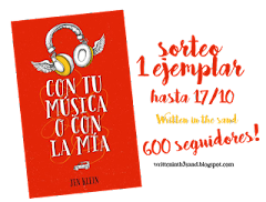 sorteo en written in the sand