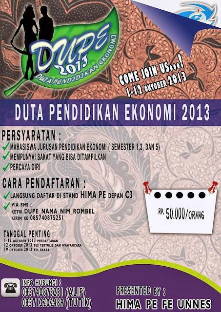 Duta Pendidikan Ekonomi 2013