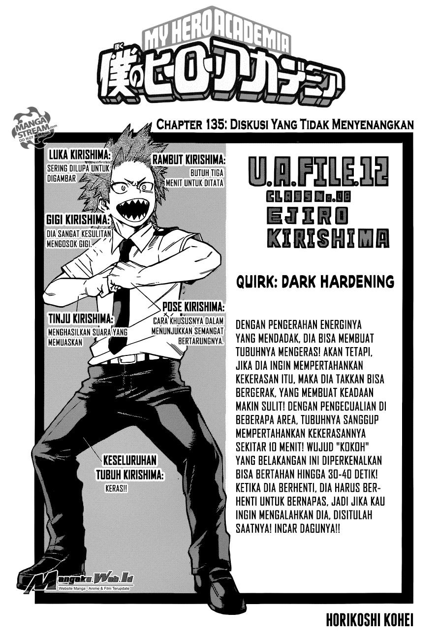 Boku no Hero Academia Chapter 135-1
