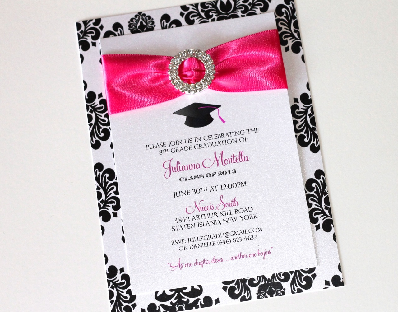 Embellished Paperie Blog – 8th Grade Graduation Invitations