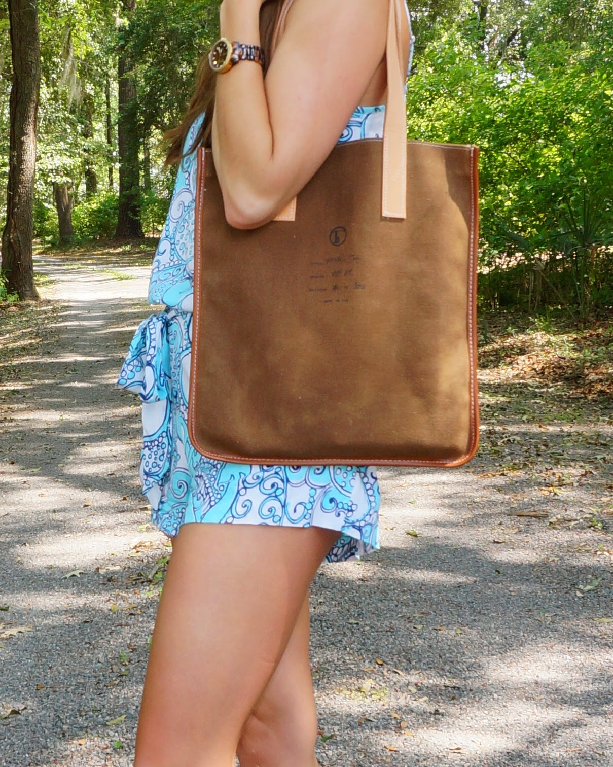 With Pearls & a Stethoscope | Lilly Pulitzer Deanna Tank Romper Playsuit & Flea bag woodland Milk tote