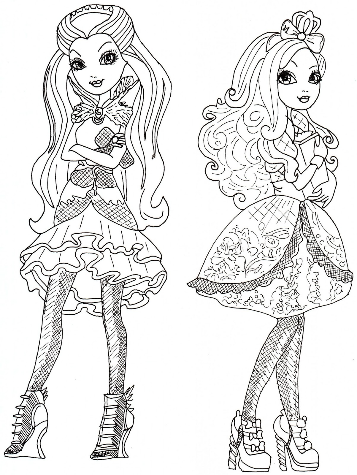 Printable coloring pages ever after high - Click Here To Print