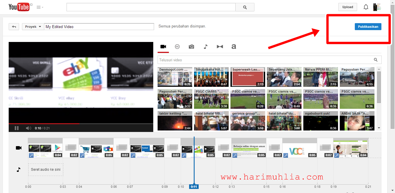 Cara Membuat Video Dengan Slide Foto Di Youtube