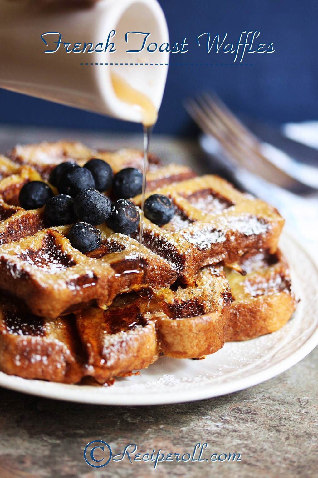 French Toast Waffles | Waffles Made With Bread ~ Sankeerthanam ...