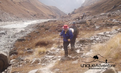 Trekking in Himalaya of Nepal
