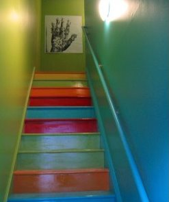 Rainbow Painted Staircase