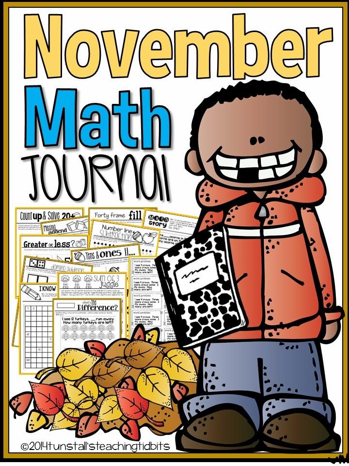 http://www.teacherspayteachers.com/Product/November-Math-Journal-Interactive-Printables-1276923