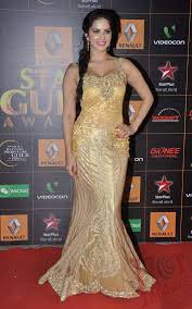 Sunny Leone Hot in Golden Gown