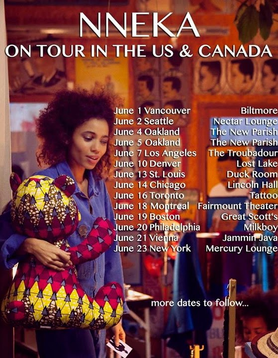 MusicLoad presents Nneka and her June 2015 US Tour Schedule