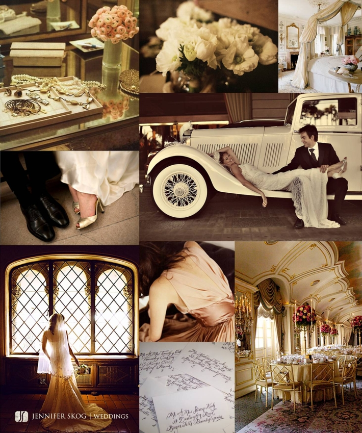 Surprise Bride S Pinterest Board Is Brought To Life: Jackie Fo: Champagne, Blush And Gold Wedding Inspiration