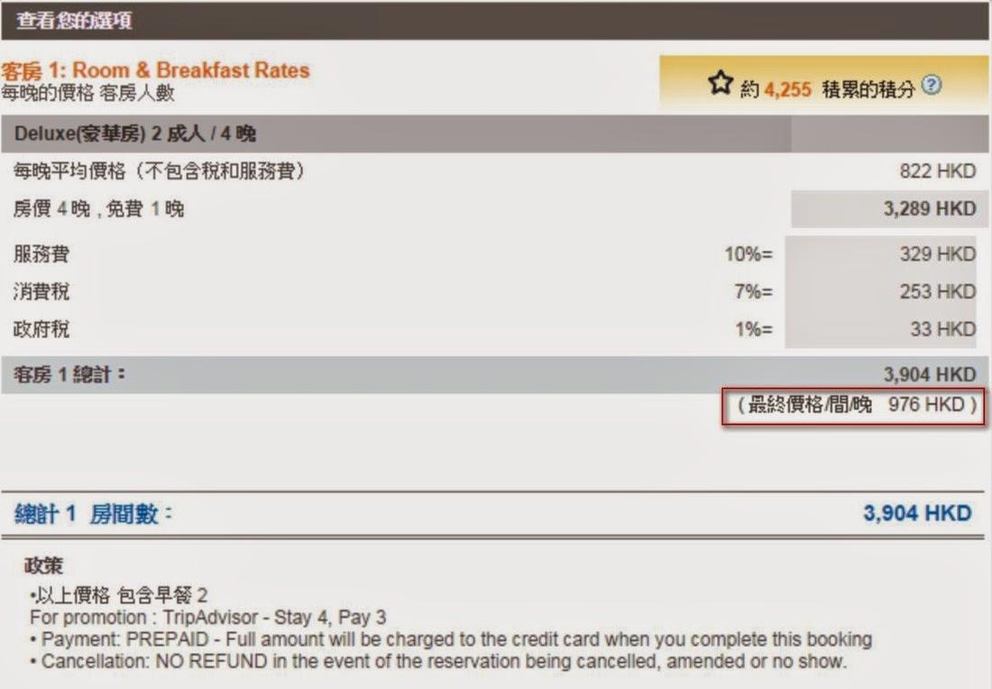 泰國喀比阿瑪瑞富尚度假酒店,使用優惠碼後,平均一晩HK$976。