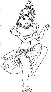 desenho de baianinha para pintar