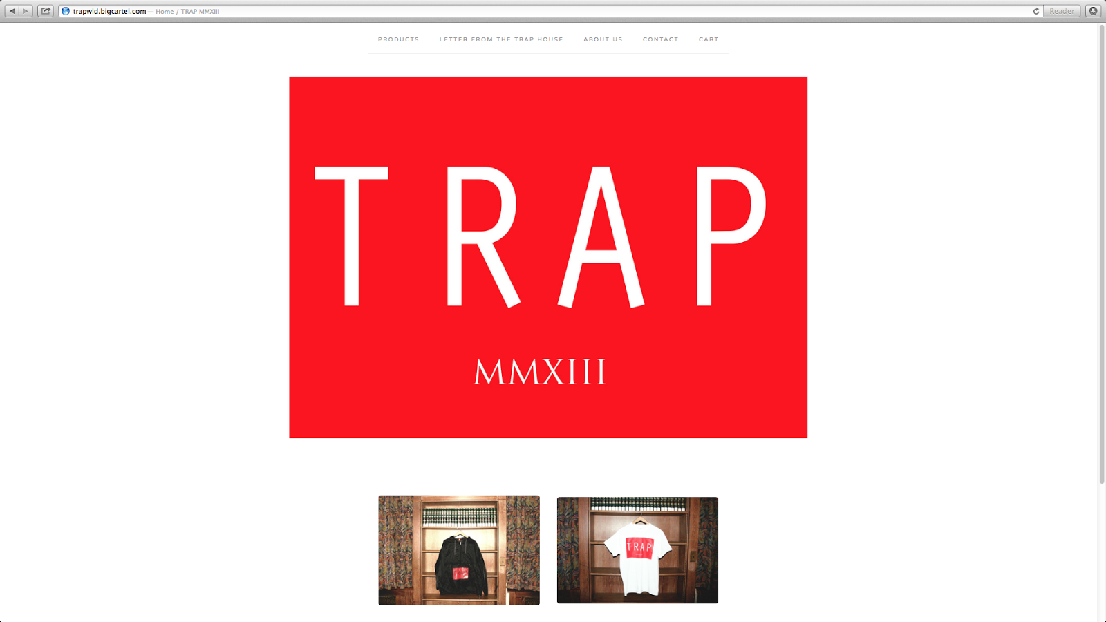 The trap life shop site now available for Shop homepage