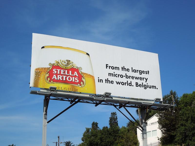 Stella Artois micro brewery billboard
