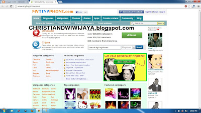 MyTyniPhone.com screen shoot