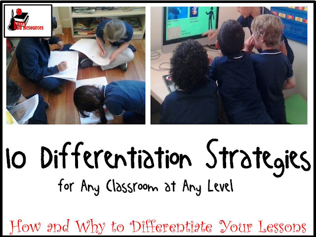 10 Differentiation Strategies for any classroom at any level. Differentiation allows teachers to give students what they need all the time. Try these strategies and tips from Raki's Rad Resources