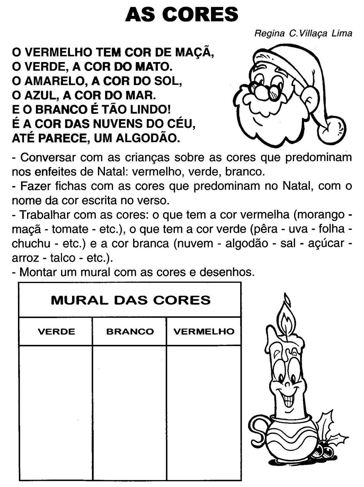Espa o saber infantil atividades natal interpreta o de for Mural de natal 4 ano