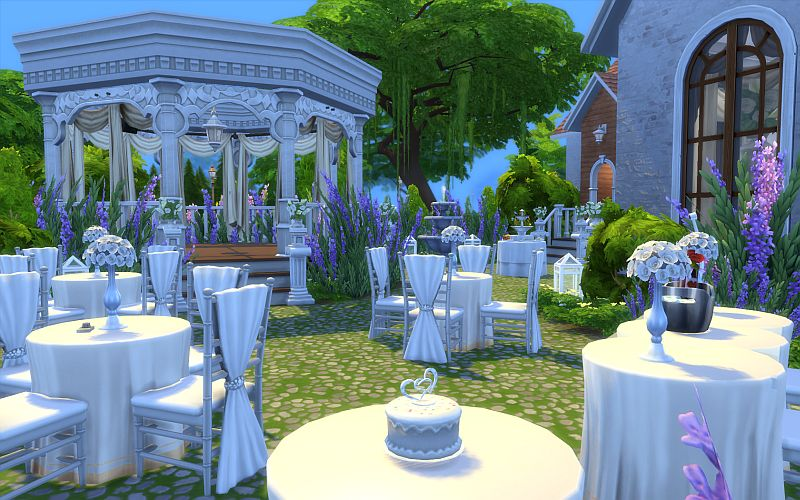 My Sims 4 Blog Wedding Chapel And House By Kementari