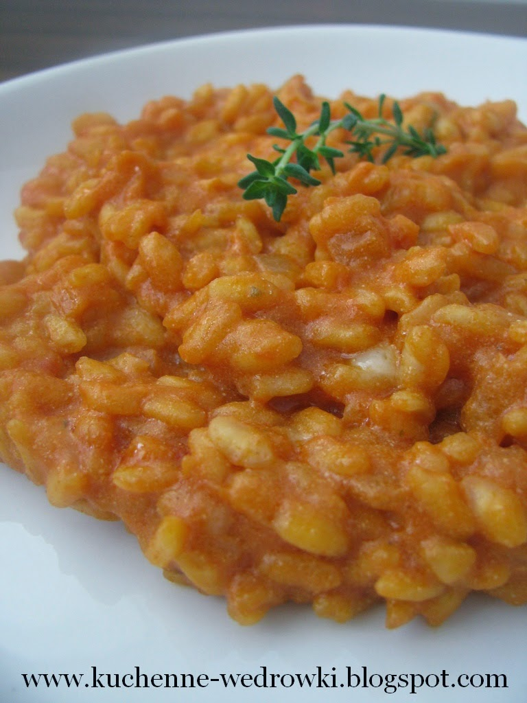 Pomidorowe risotto z serem ricotta