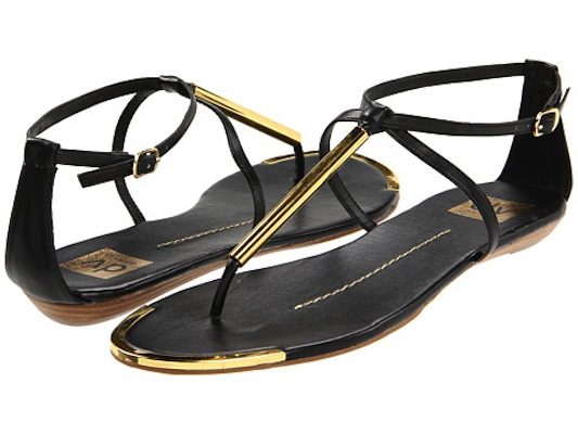 Dolce Vita DV Archer Flat Sandals in Black 1  - Black flat sandals
