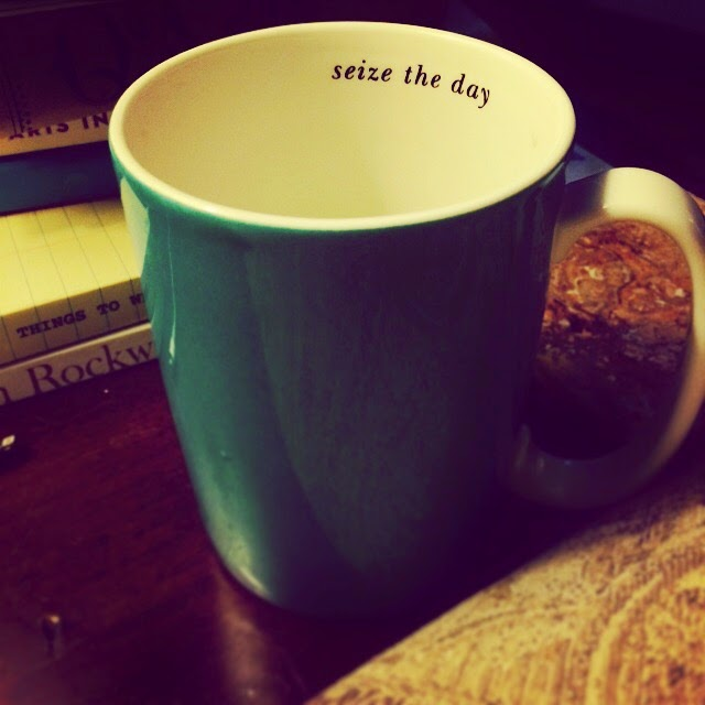 """seize the day"" Coffee Mug from Kate Spade"