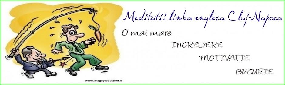 Meditatii    -    limba engleza Cluj-Napoca