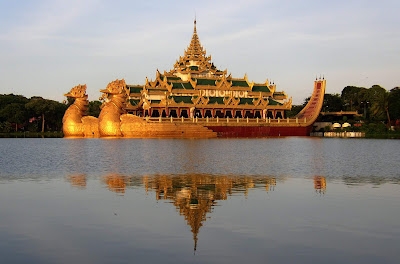 (Philippines) - Myanmar - Yangoon Karaweik Palace on Kandawgyi Lake