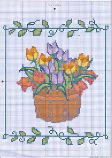 Gráfico para bordado de vaso