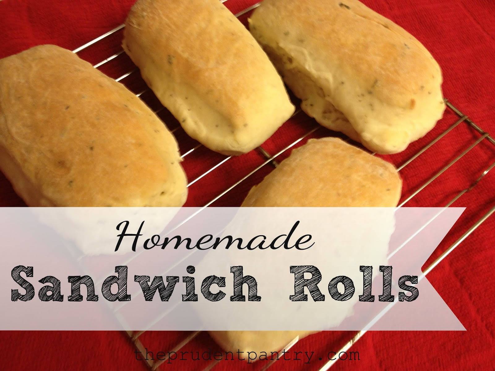 The Prudent Pantry: Homemade Sandwich Rolls