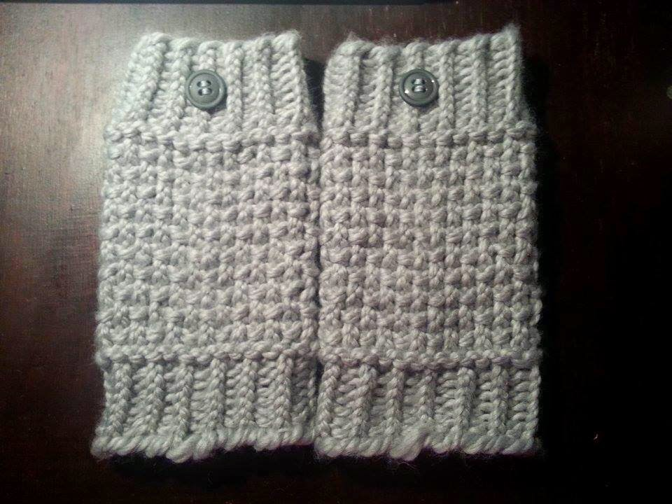 Looming Exclusive Designs Cozy Gray Boot Cuffs
