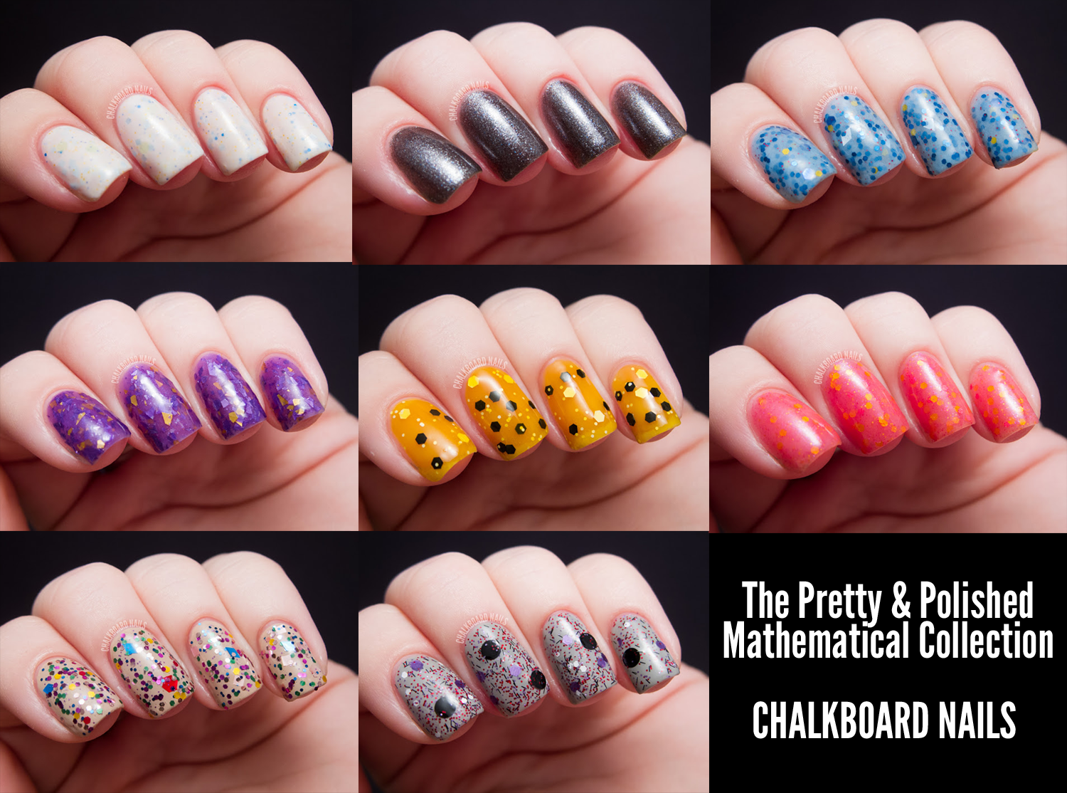 The Pretty And Polished Mathematical Collection Chalkboard Nails