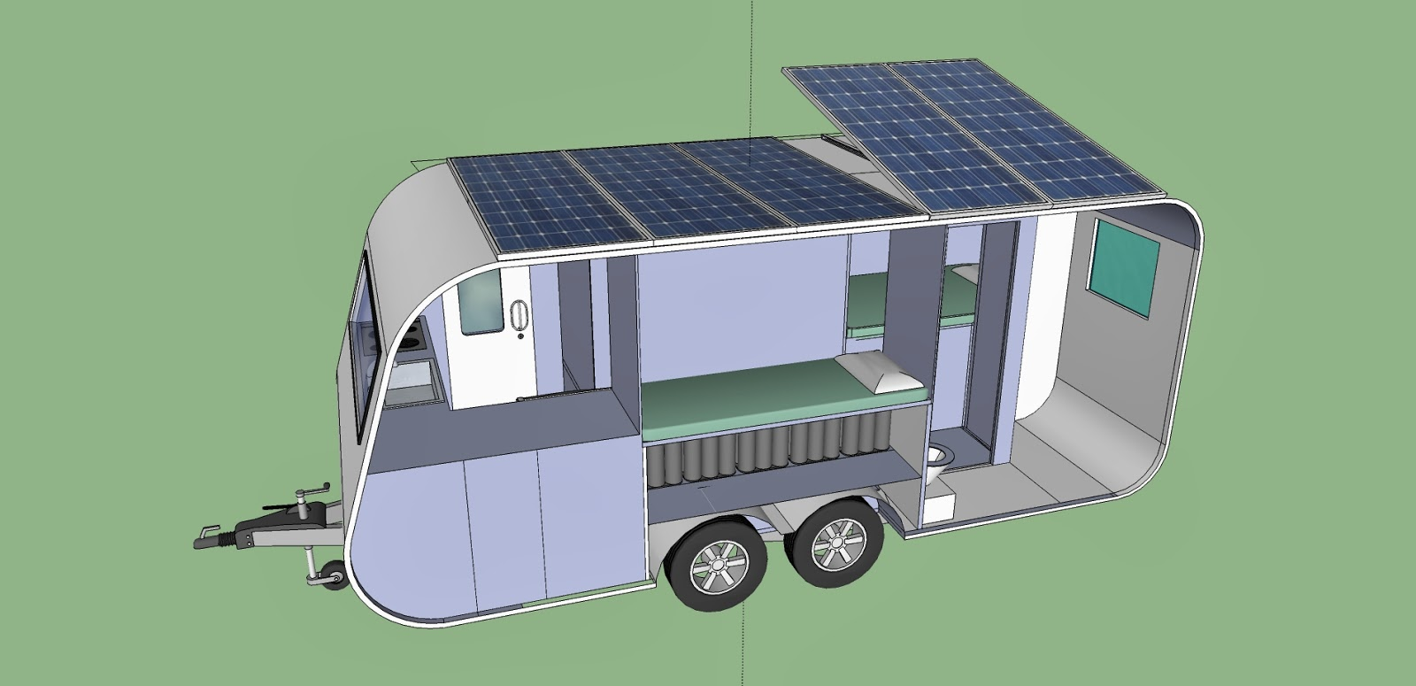 I have done the drawings with Google Sketchup  a very easy and free 3D design  software  To draw the caravan I used some parts downloaded from Google. Francesco s Short Circuits