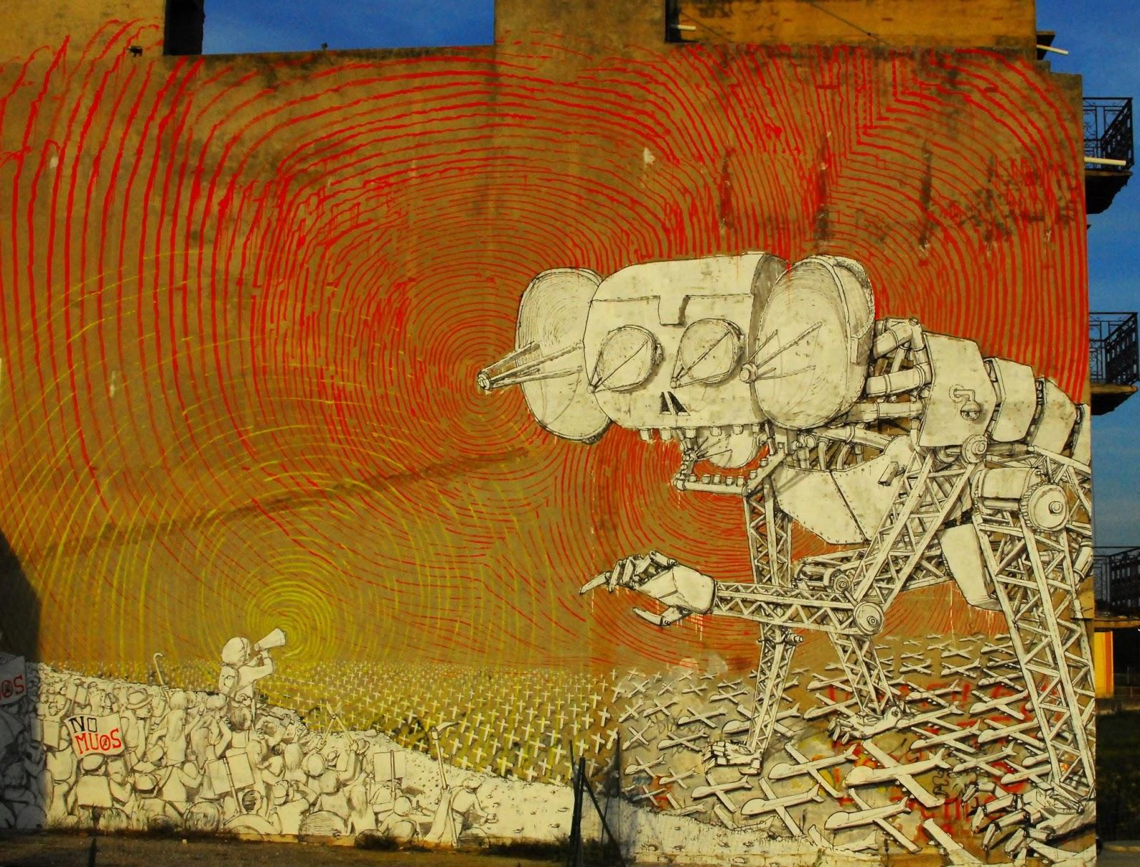 Blu New Murals In Niscemi, Italy | StreetArtNews | StreetArtNews