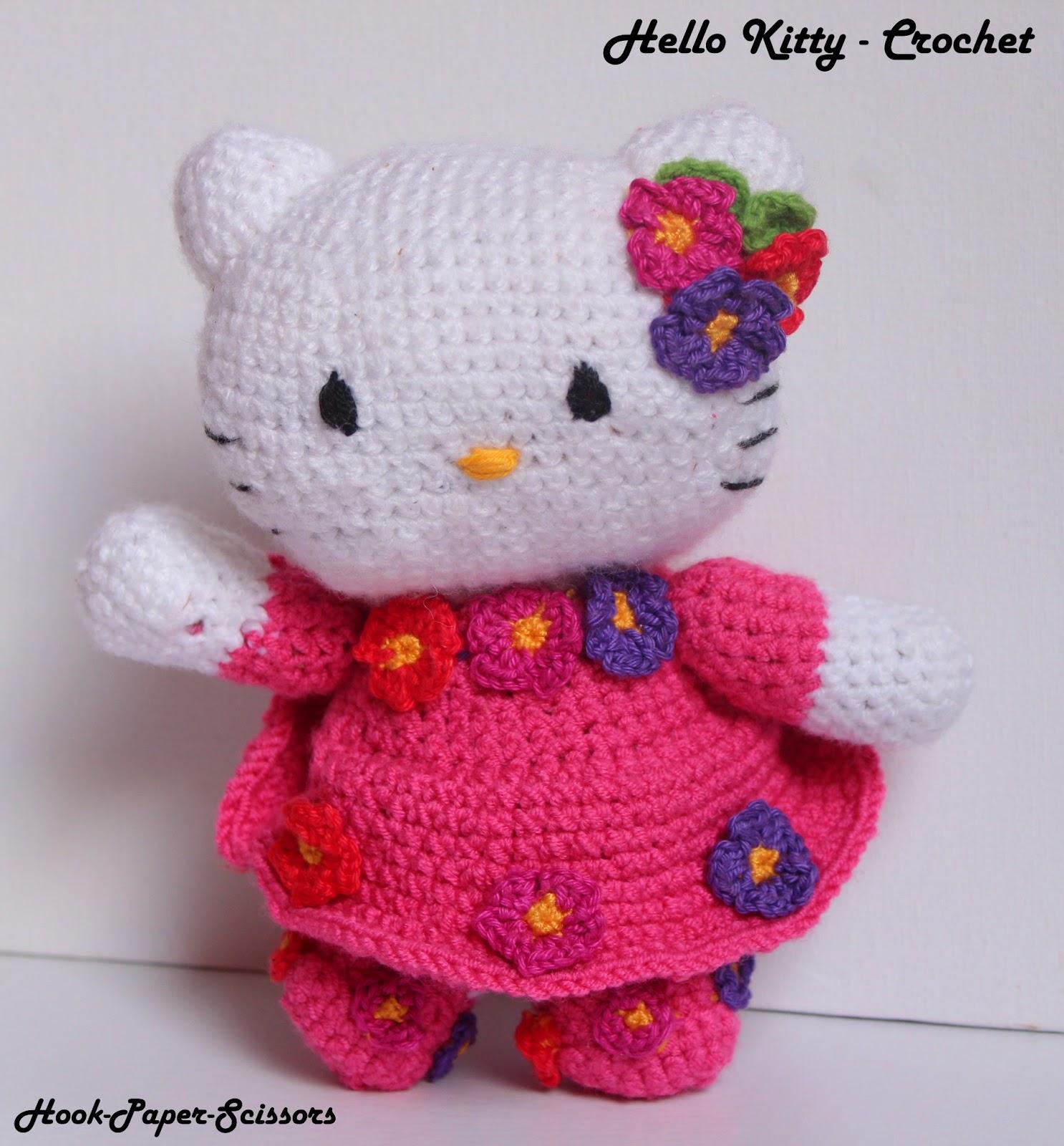 Hook-Paper-Scissors: Hello Kitty - Amigurumi