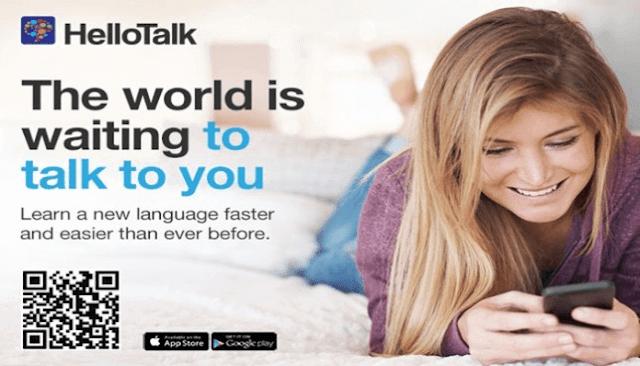 تطبيق HelloTalk لتعلم اكثرمن 100 لغة مجانا
