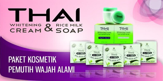 THAI Whitening Series - Paket Krim Wajah Herbal Aman Bagi Kulit